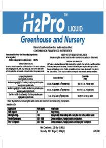 Surfactants H2Pro Greenhouse and Nursery Liquid
